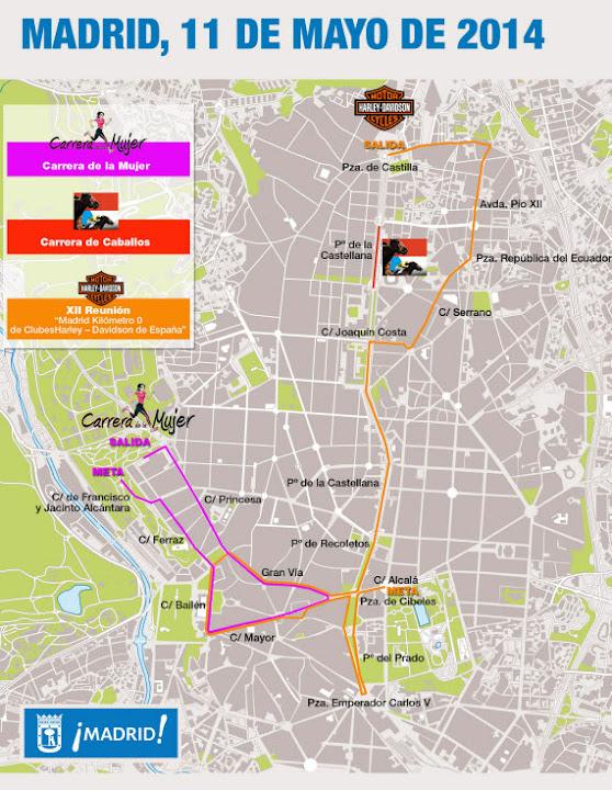 Cortes de tráfico en el centro de Madrid - domingo 11 de mayo