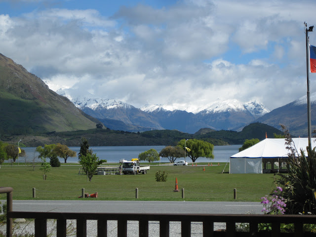 View from the common room at YHA Wanaka