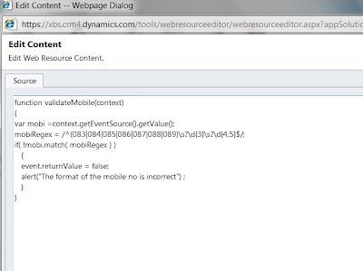 CRM 2011 - Phone Format Validation using JavaScript and Regex Joe Gill Dynamics 365 Consultant