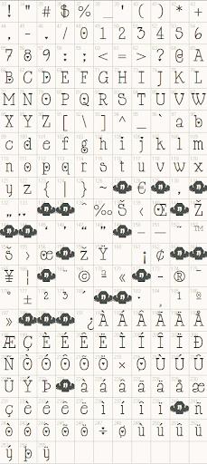 Cupid de Locke Font Character Example