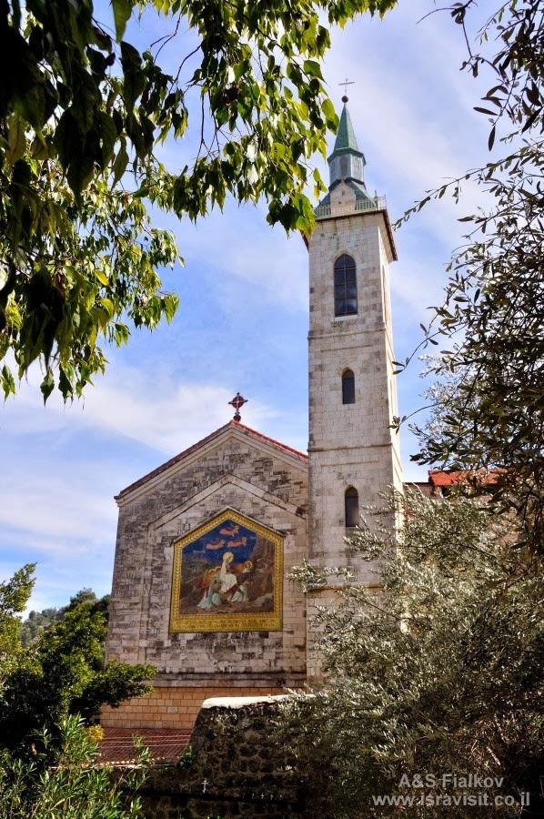 Церковь Посещения рядом с Горненским монастырем. Экскурсия в Горненский монастырь.  Гид в Израиле Светлана Фиалкова.