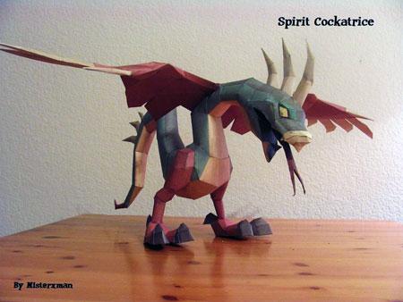 Runescape Spirit Cockatrice Papercraft