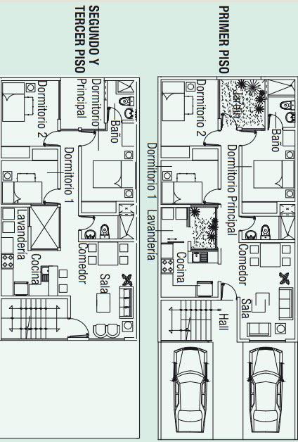 Planos para construir 3 apartamentos en 130m2 planos de for Departamentos minimalistas planos