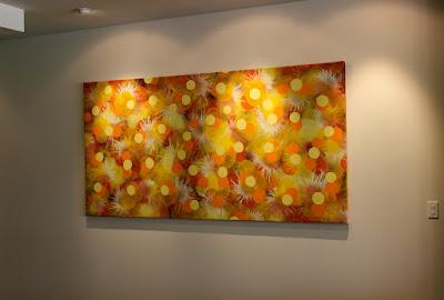 Victor Angelo Public Art Painting Bloom Golden Yellow Orange Sunset Dessert
