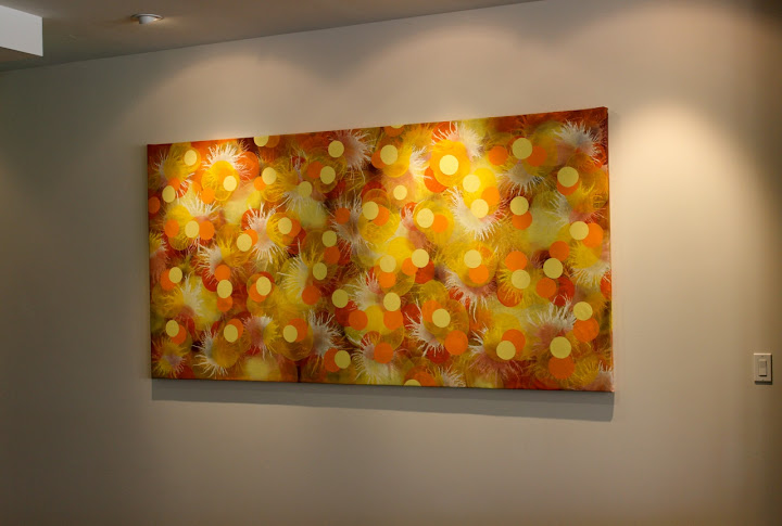 Victor Angelo Public Art Painting Bloom Golden Yellow Orange Sunset Dessert
