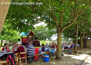 French Village Diaries life France communal meal my expat family