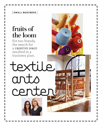 martha stewart magazine feature on the textile art center