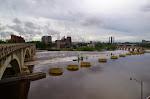 Der Mississippi River - da fließen nach den heftigen Regenfällen des gestrigen Tages einige Liter (Gallonen...) Wasser durch.