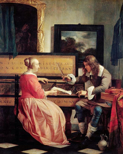 Gabriel Metsu - Man and Woman Sitting at the Virginal