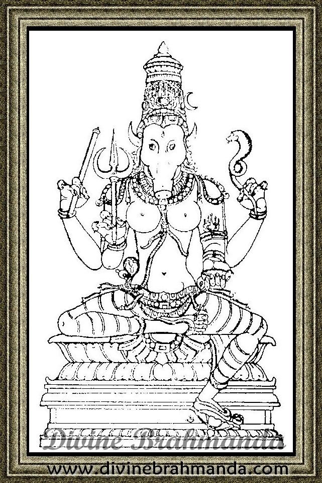 Soundarya Lahari Sloka, Yantra & Goddess To Cure Venereal & Kidney Diseases - 54