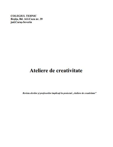 ed3_liceu_ateliere de creativitate_COLEGIUL TEHNIC __Resita _CARAS-SEVERIN