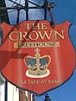 Red Crown pub sign with Freehouse wording over male Hanoverian Crown (pre-Victoria post Tudor)