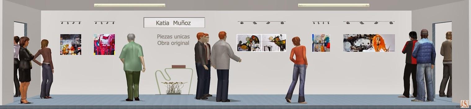 Sala de exposición virtual de pinturas de Katia Muñoz