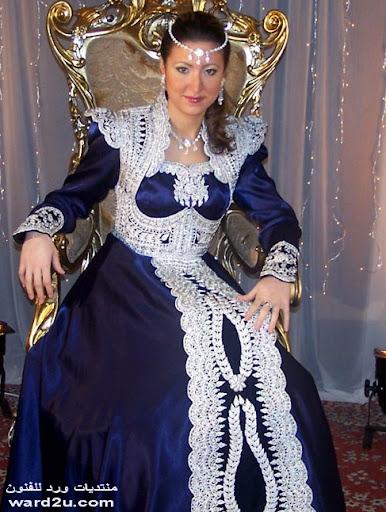 ازياء العروس الجزائريه لمسات فنيه رائعه
