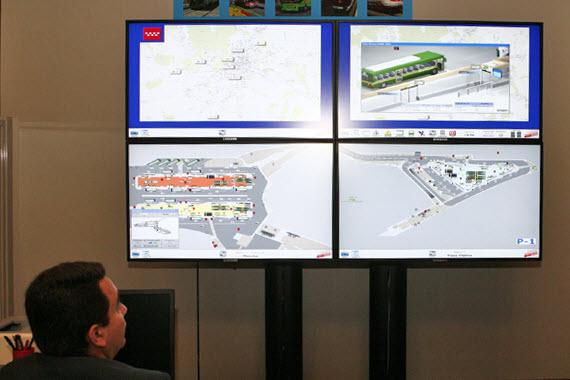 El Centro Integral de Gestión del Transporte Público de Madrid