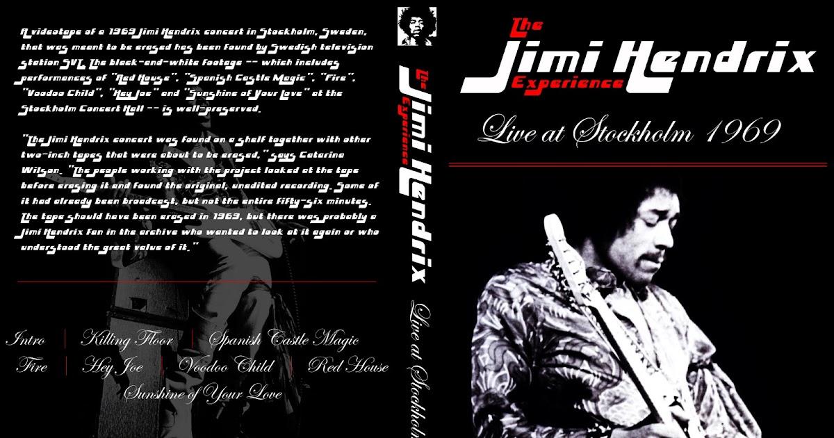 Jolly Roger Bootlegs Jimi Hendrix Stockholm Sweden 1969 Black White