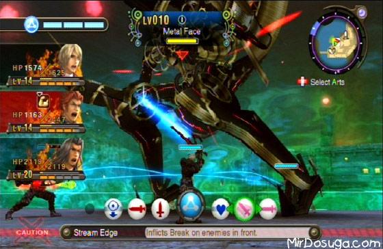 Боевой режим в Xenoblade Chronicles