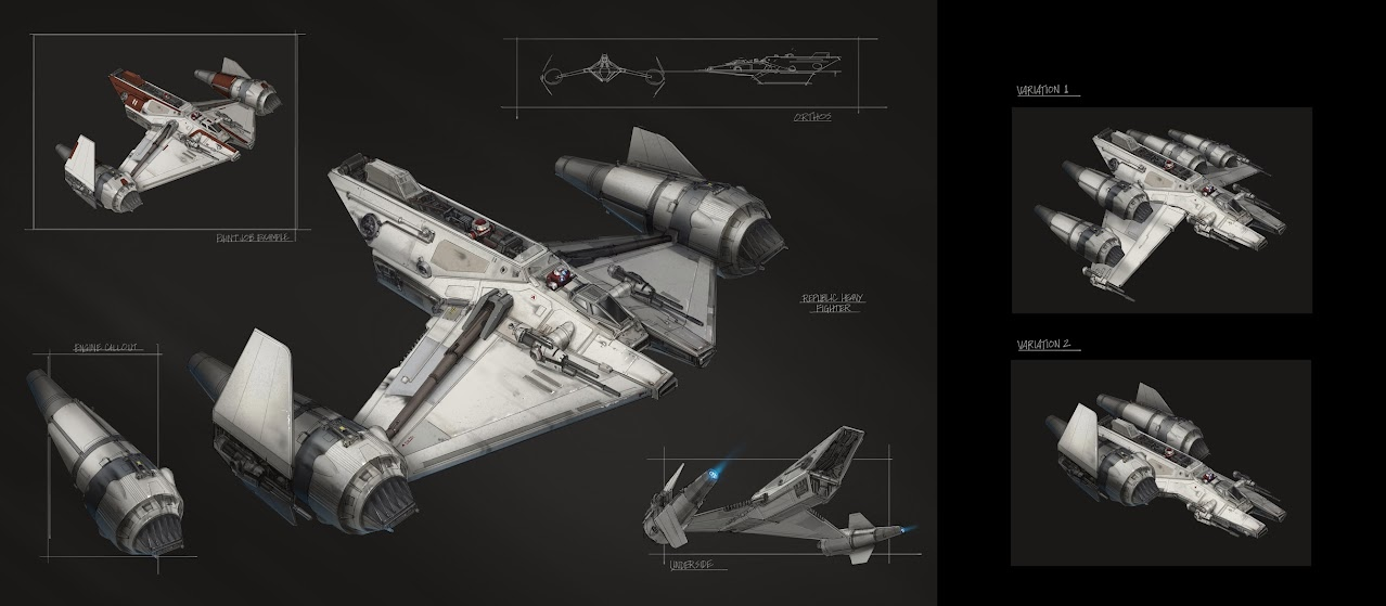 Heavy Republic Strike fighter concept art