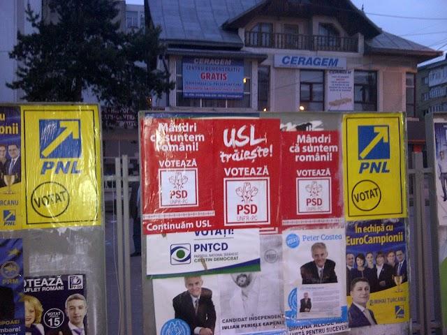 Afișele PSD au fost declarate ilegale de Biroul Electoral Județean