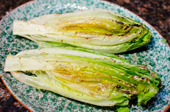 Grilled Romaine, Reno Tahoe Food Photography