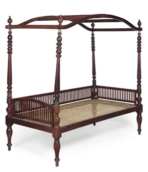 Collapsible 19th Century Anglo Indian Hardwood Campaign Bed (Christieu0027s)