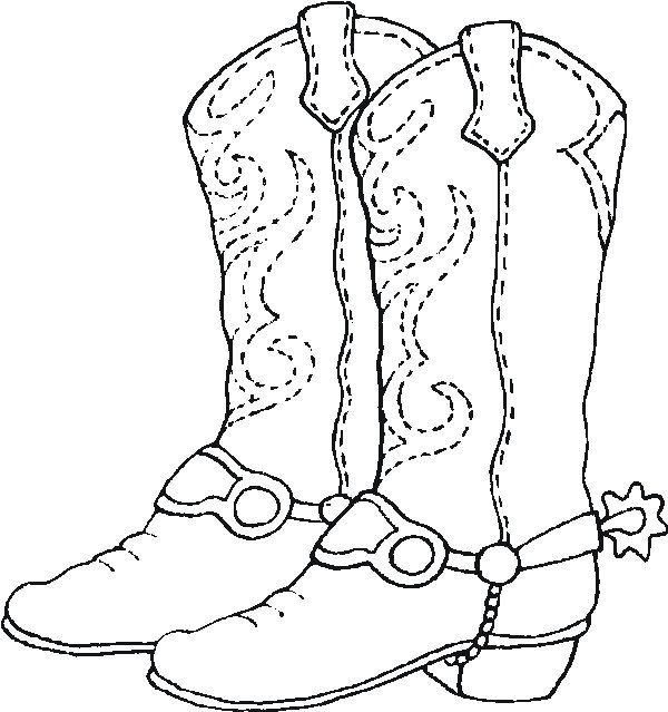 Botas vaqueras dibujo para colorear - Imagui