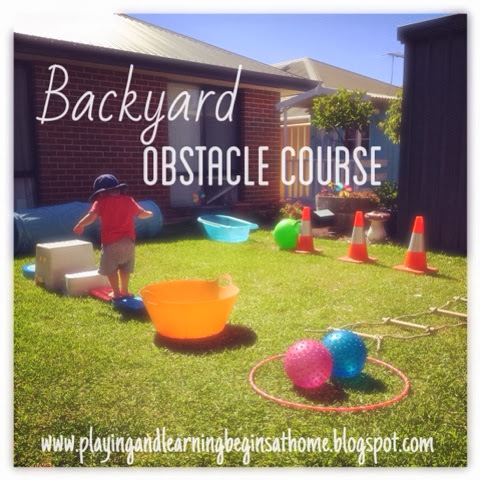 playing and learning begins at home backyard obstacle course