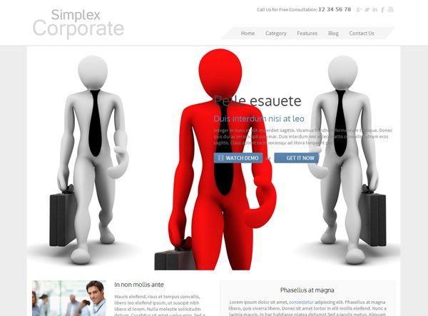 Simplex Corp free blogger template download