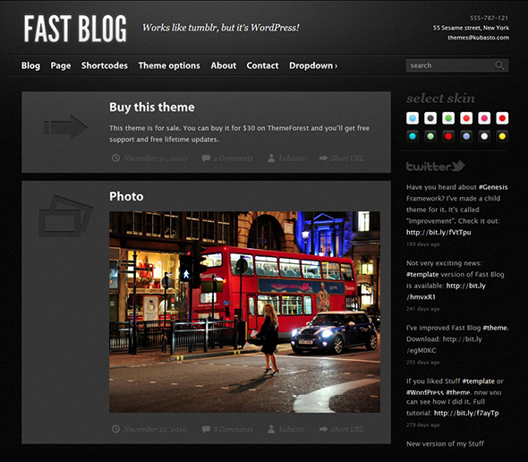 Fast Blog Tumblr Style Theme