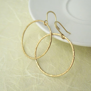 lazy giraffe handmade jewellery gold hoop earrings