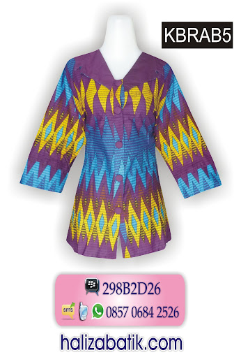 grosir pakaian, model baju atasan batik, baju batik modern
