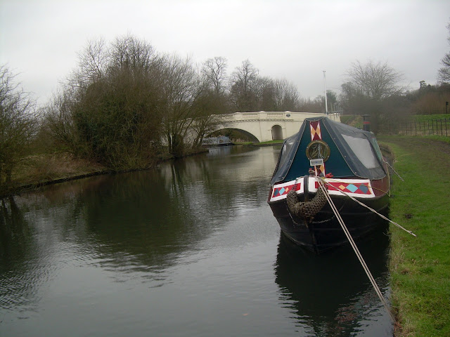 Narrowboat and bridge