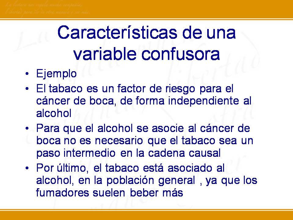 ejemplo variable de confusión epidemiología de la diabetes