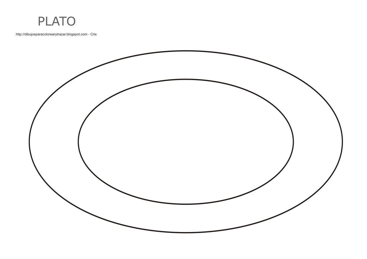 Dibujos plato para colorear imagui for Platos para