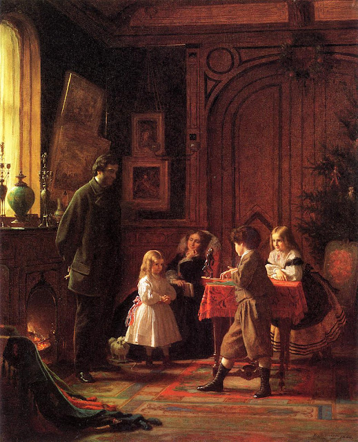 Eastman Johnson - Christmas-Time, The Blodgett Family