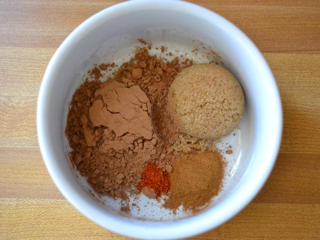 cocoa, sugar, spices