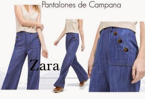 Pantalones de campana Zara