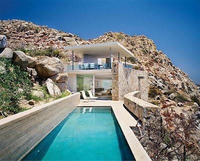 Casa Finisterra 1 Rumah Minimalis Indah Di Tebing Batu