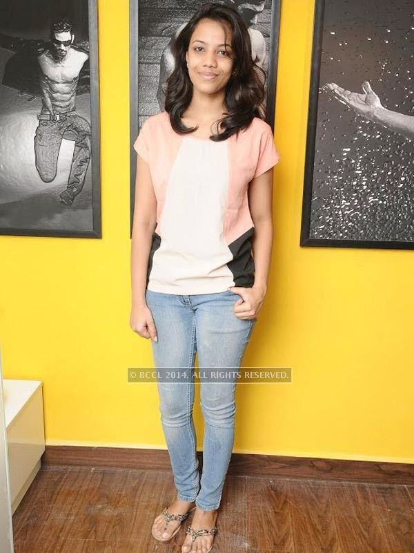 Keerthi at the launch of the fitness studio Body Shape in Chennai.