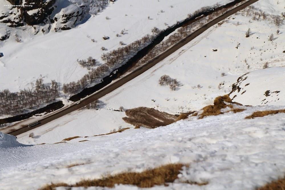 Avalanche Haute Maurienne, secteur Bessans, RD 902 Grande Combe - Photo 1 - © Duclos Alain