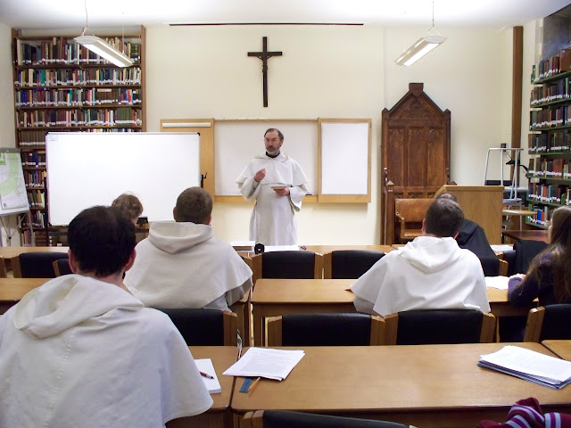 Friar Richard Conrad lectures on the theology of the Eucharist.