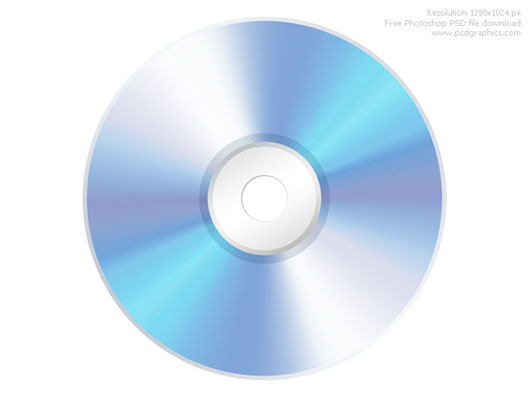 CD disco download psd