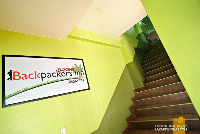 The Entrance to Tagaytay's D-Zone Backpacker's Inn