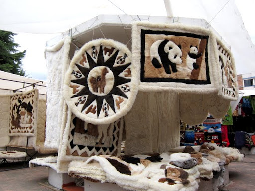 Alpaca items, Otavalo, Ecuador