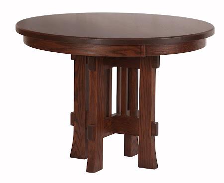 "42"" Seville Round Table in Blackened Oak"
