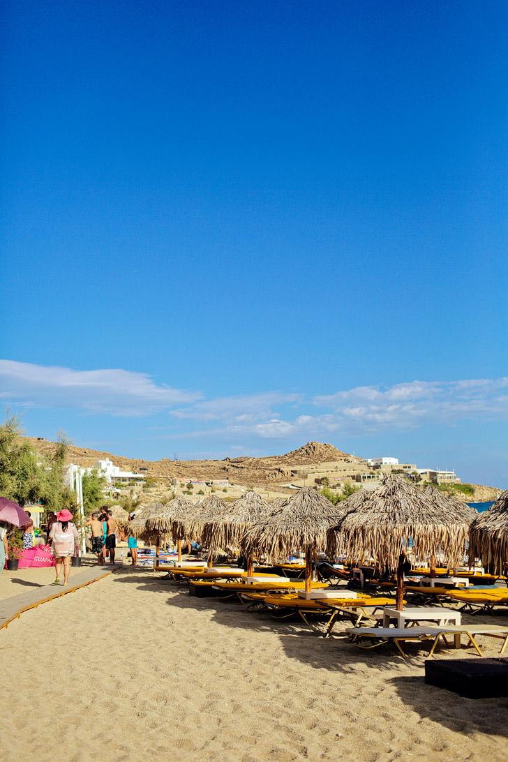Best Beach in Mykonos Paradise Beach.