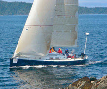 J/122 sailing Swiftsure Race- Straits of Juan de Fuca