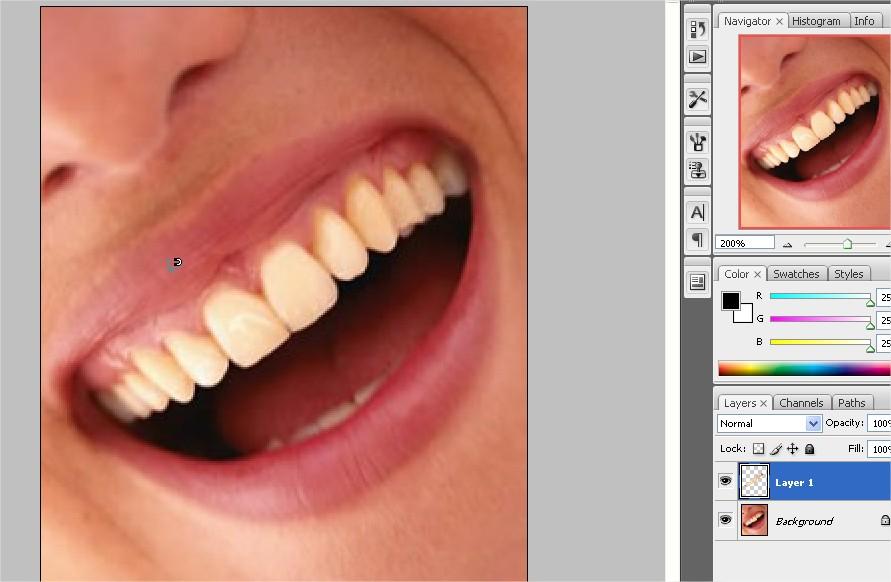 Tutoriais Em Photoshop Como Clarear Os Dentes Versao Cs3 Cs4 Cs5