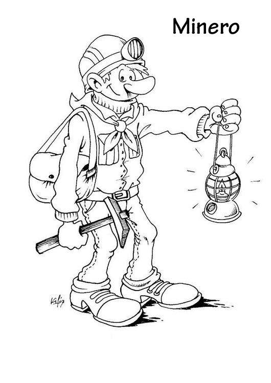 miner coloring pages - photo #9