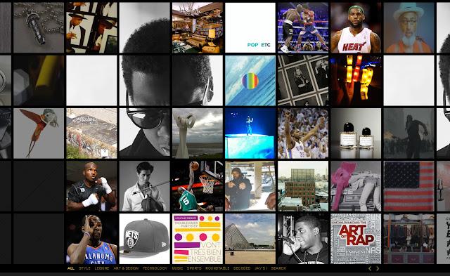 *馬賽克牆風格的歌手官網|Jay-Z Web Site 1